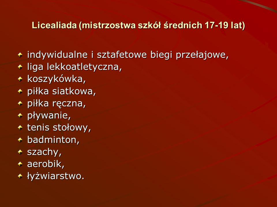 Licealiada (mistrzostwa szkół średnich 17-19 lat)