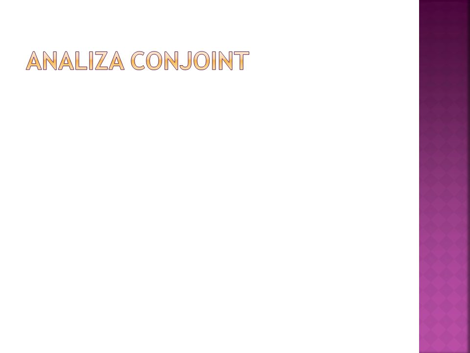 ANALIZA CONJOINT