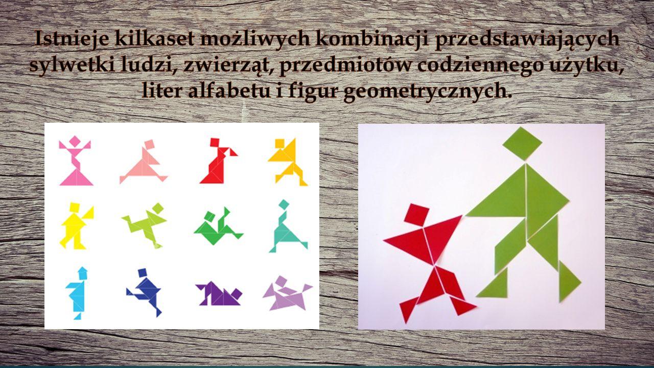 Istnieje kilkaset możliwych kombinacji przedstawiających sylwetki ludzi, zwierząt, przedmiotów codziennego użytku, liter alfabetu i figur geometrycznych.