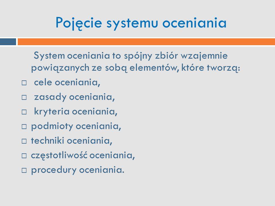 Pojęcie systemu oceniania