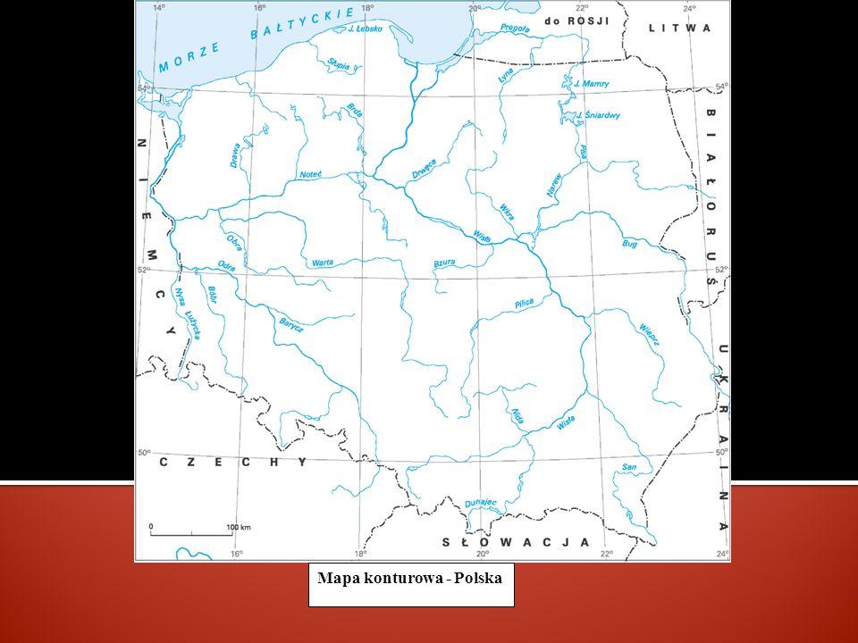 Mapa konturowa - Polska