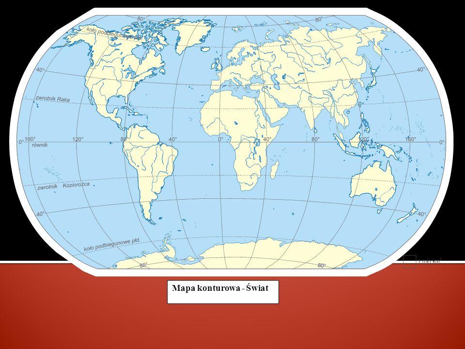 Mapa konturowa - Świat