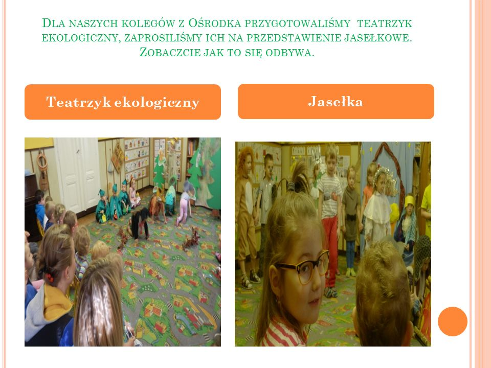 Teatrzyk ekologiczny Jasełka