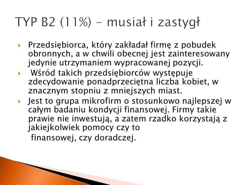 TYP B2 (11%) - musiał i zastygł