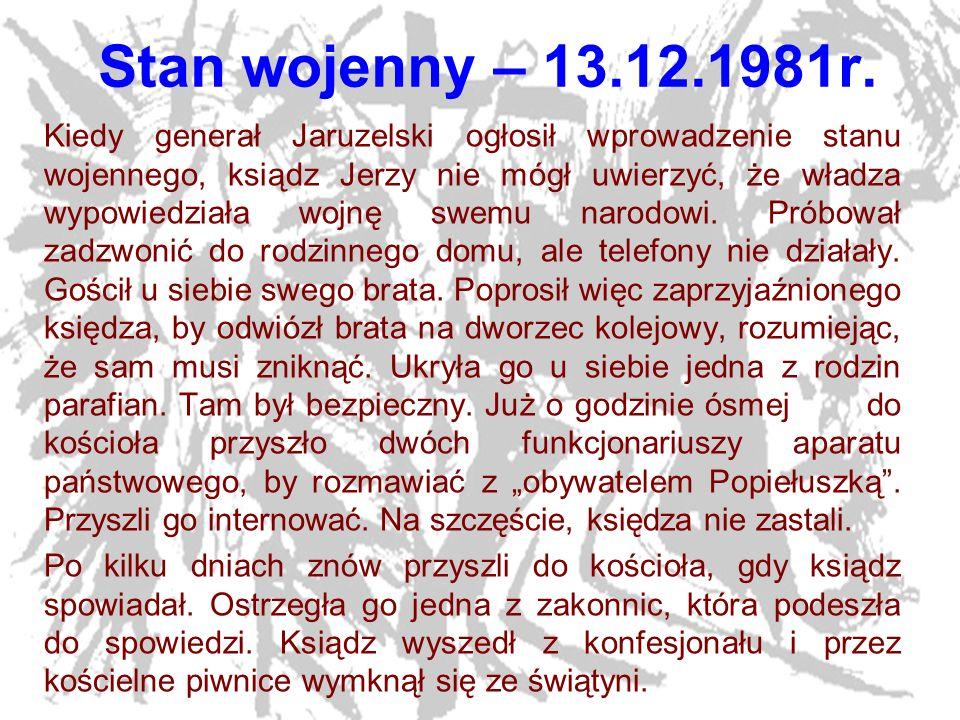Stan wojenny – 13.12.1981r.