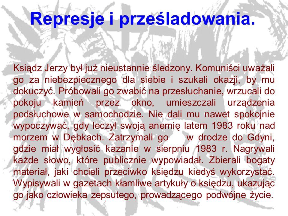 Represje i prześladowania.