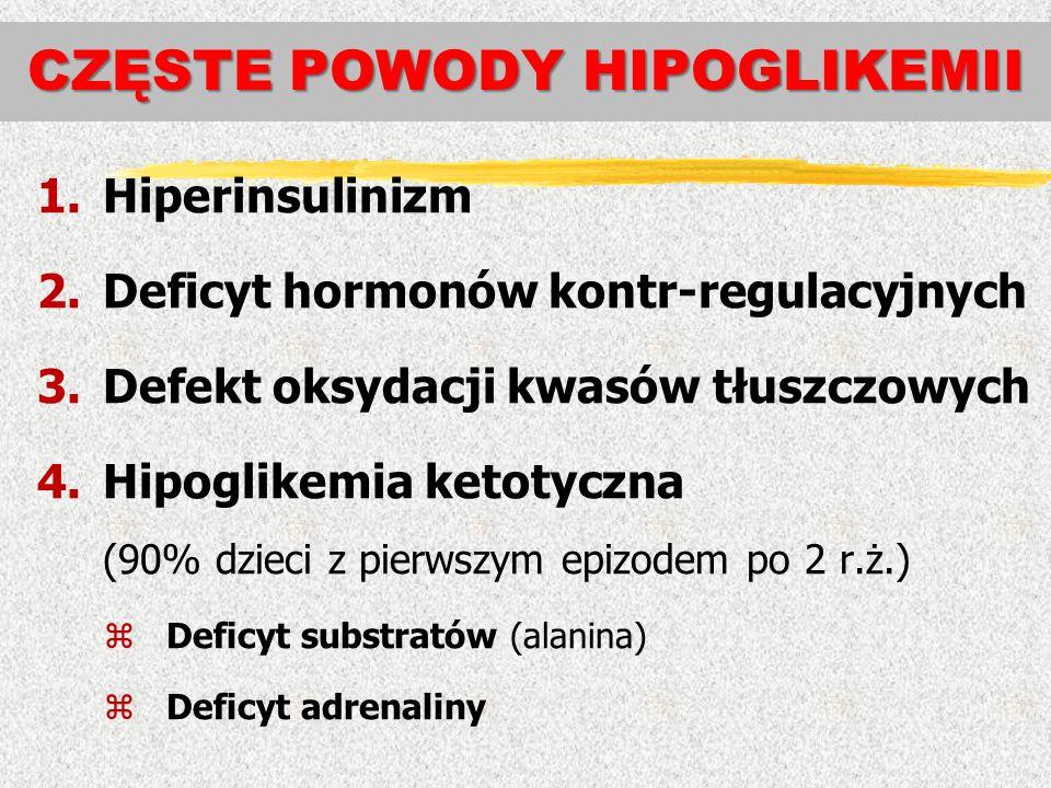 CZĘSTE POWODY HIPOGLIKEMII