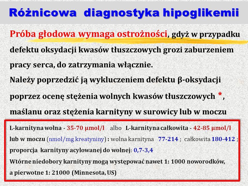 Różnicowa diagnostyka hipoglikemii