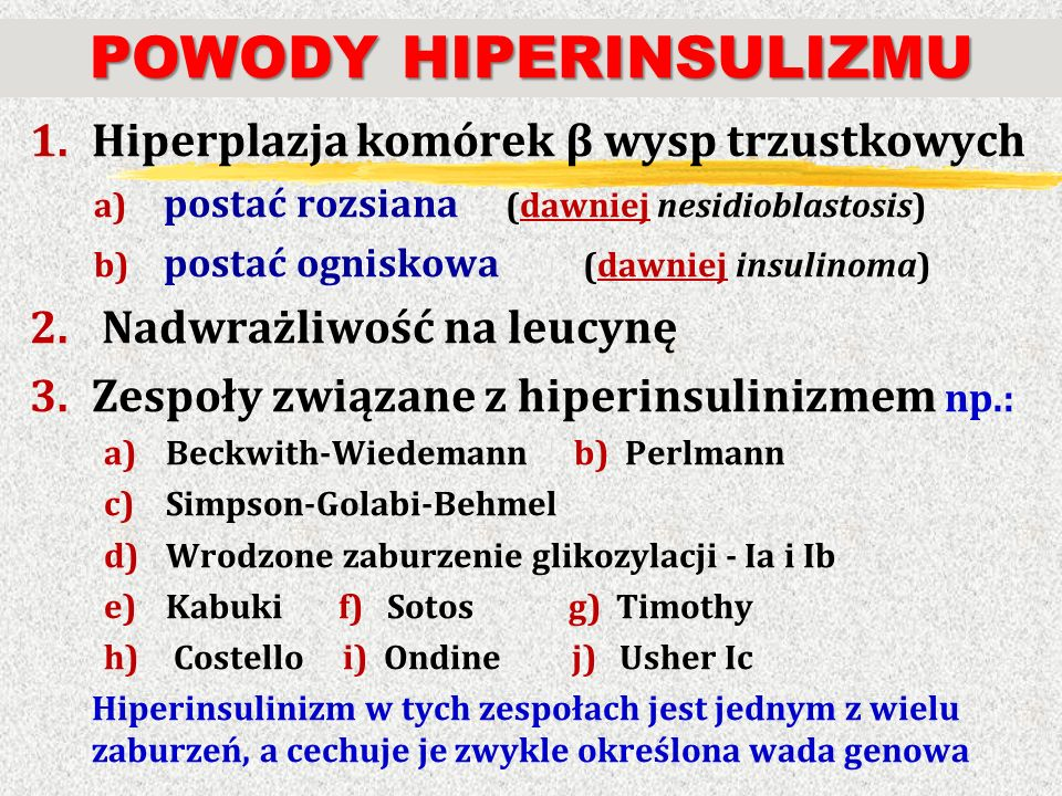 POWODY HIPERINSULIZMU