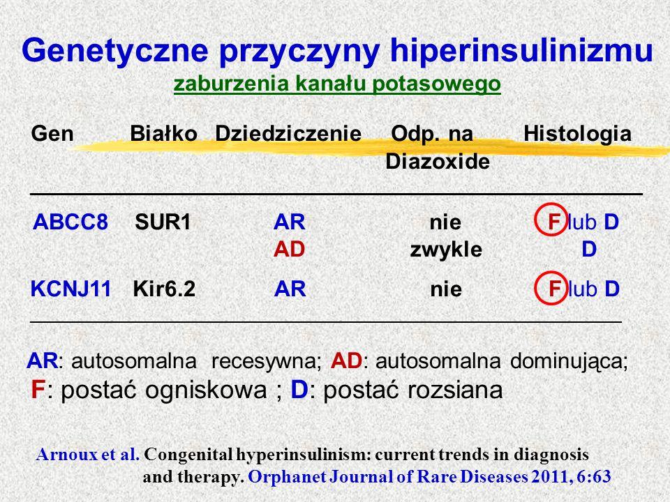 Genetyczne przyczyny hiperinsulinizmu zaburzenia kanału potasowego