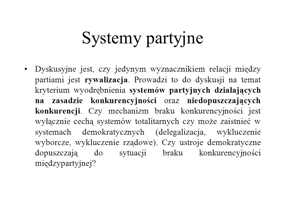 Systemy partyjne