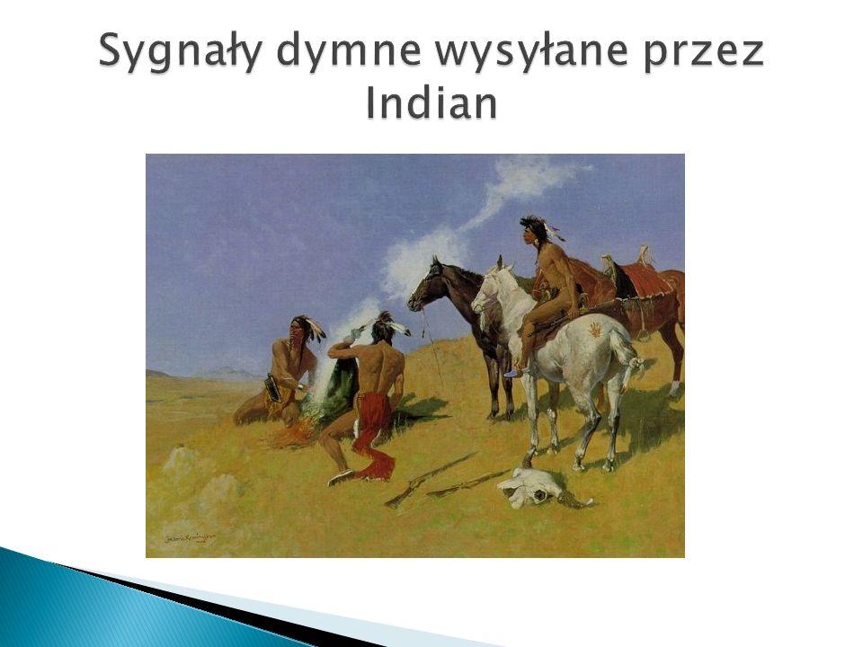 Sygnały dymne wysyłane przez Indian