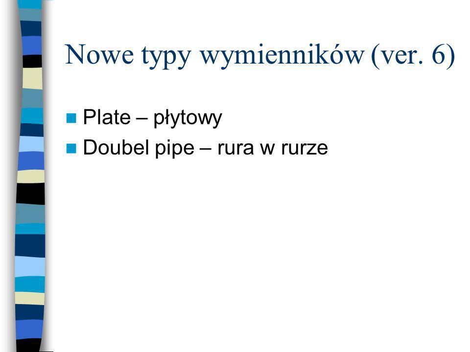 Nowe typy wymienników (ver. 6)