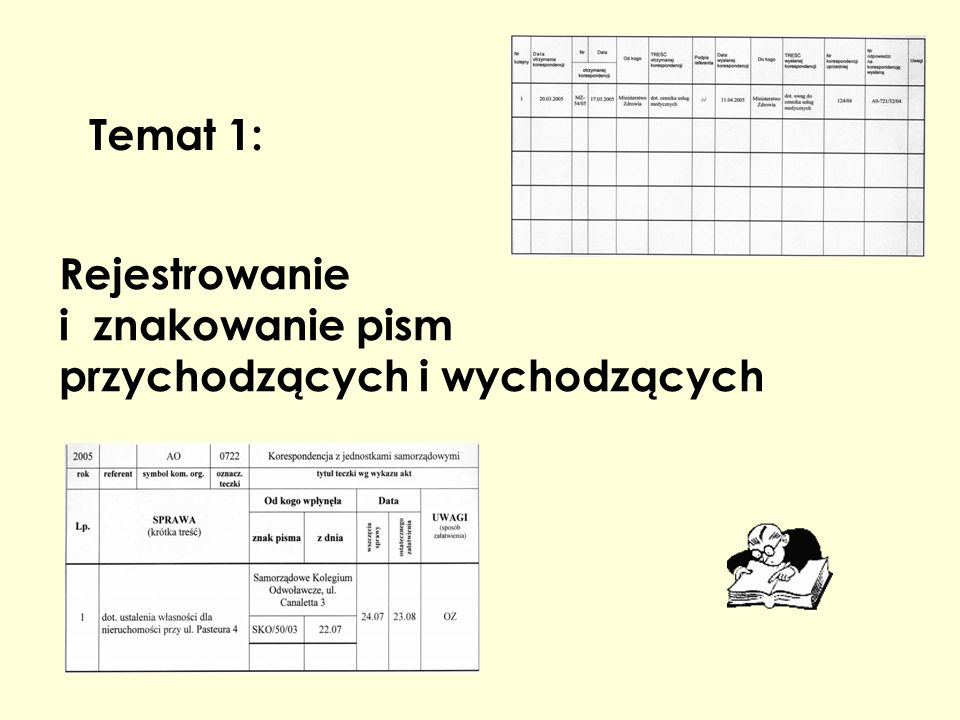 Rejestrowanie i znakowanie pism przychodzących i wychodzących
