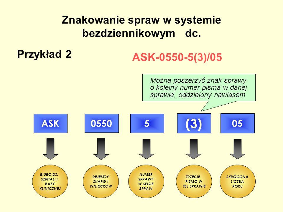 Znakowanie spraw w systemie bezdziennikowym dc.