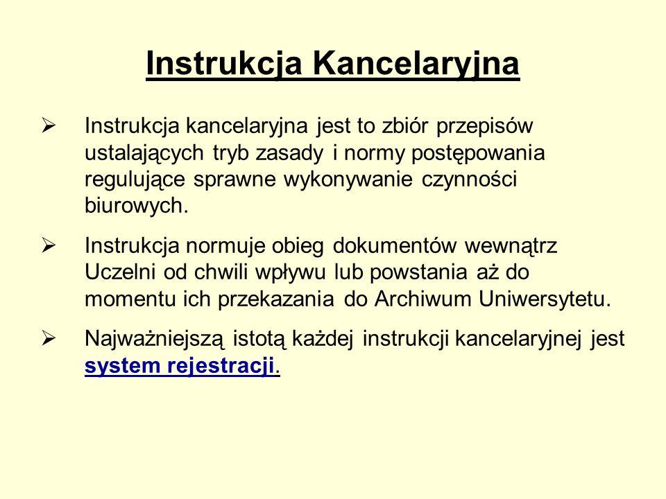 Instrukcja Kancelaryjna