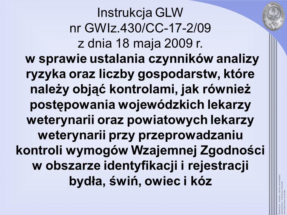 Instrukcja GLW nr GWIz. 430/CC-17-2/09 z dnia 18 maja 2009 r