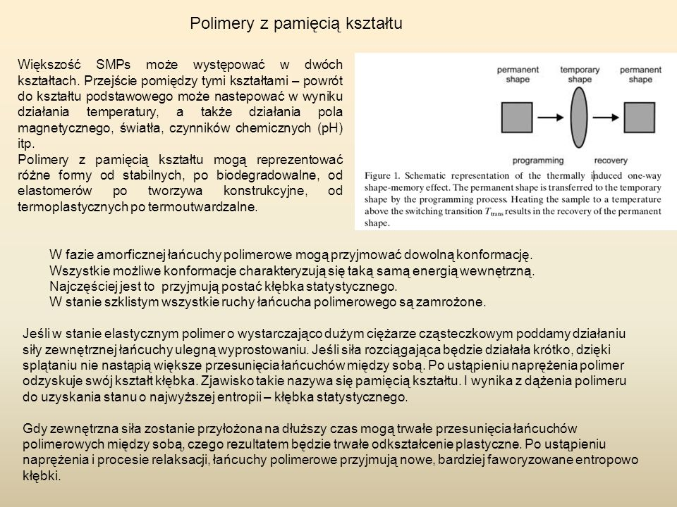 Polimery z pamięcią kształtu