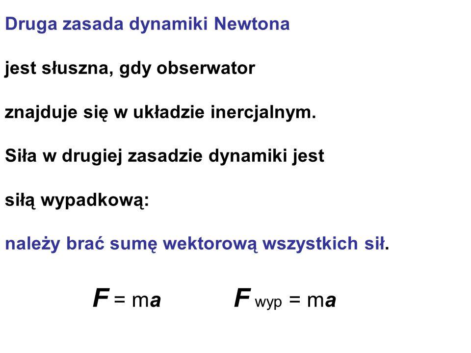 F = ma F wyp = ma Druga zasada dynamiki Newtona