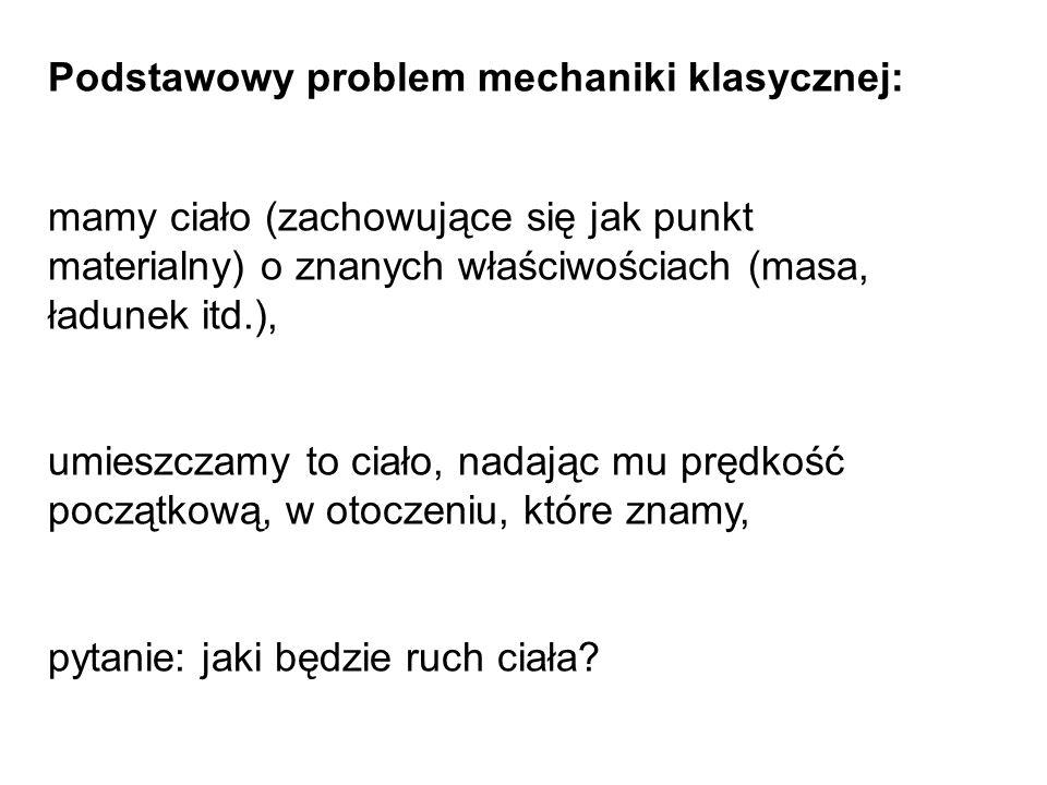 Podstawowy problem mechaniki klasycznej: