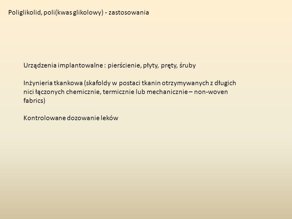 Poliglikolid, poli(kwas glikolowy) - zastosowania