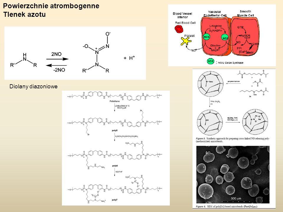 Powierzchnie atrombogenne Tlenek azotu