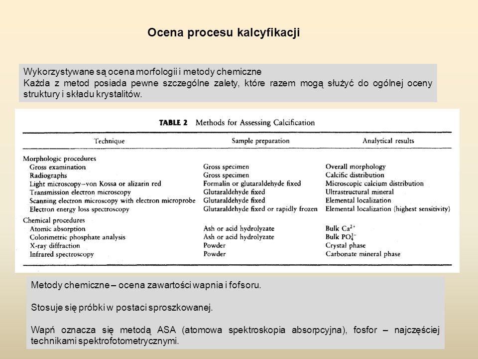 Ocena procesu kalcyfikacji