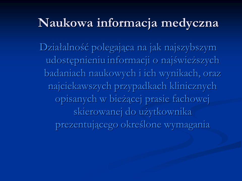 Naukowa informacja medyczna