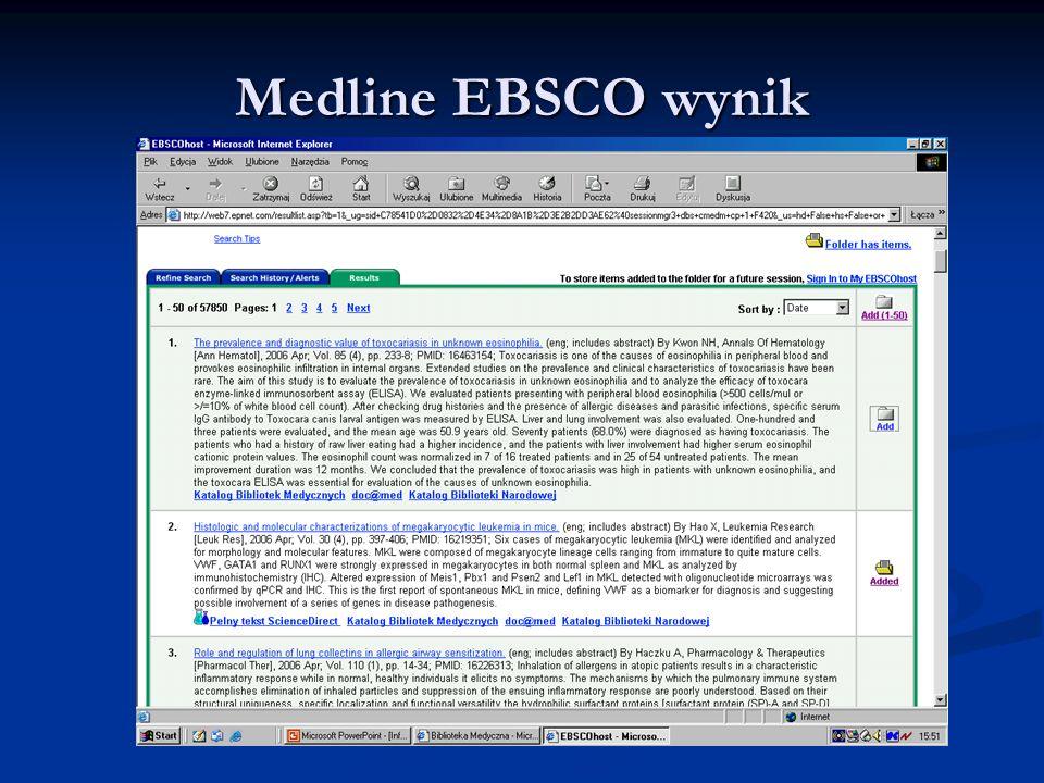 Medline EBSCO wynik
