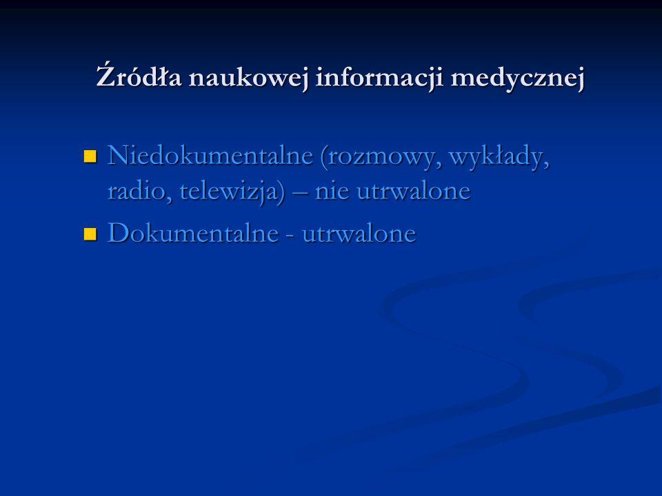 Źródła naukowej informacji medycznej
