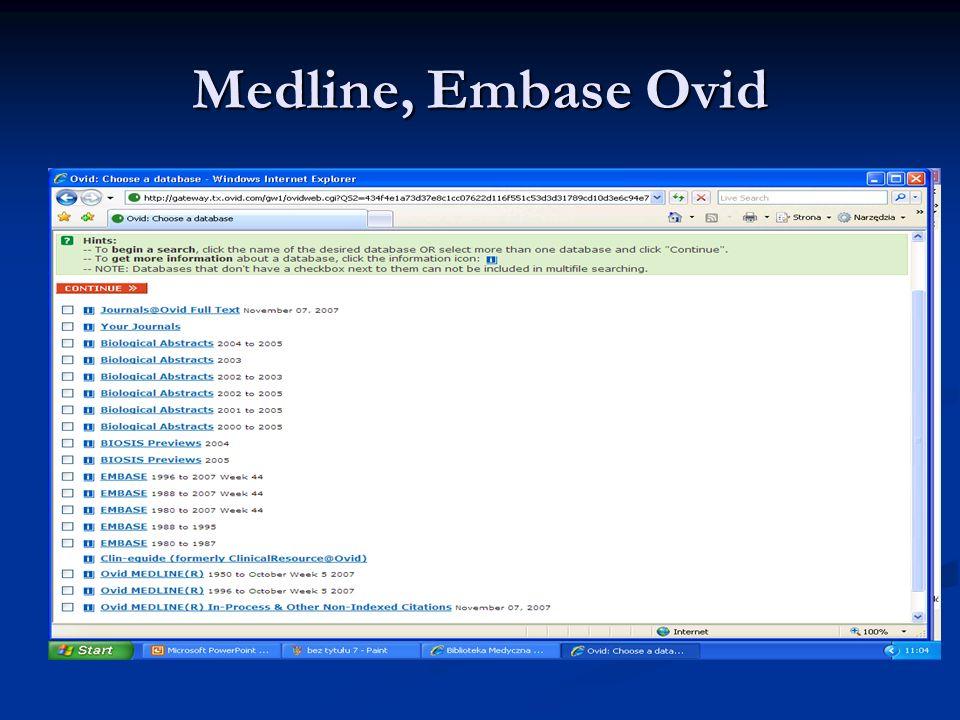 Medline, Embase Ovid