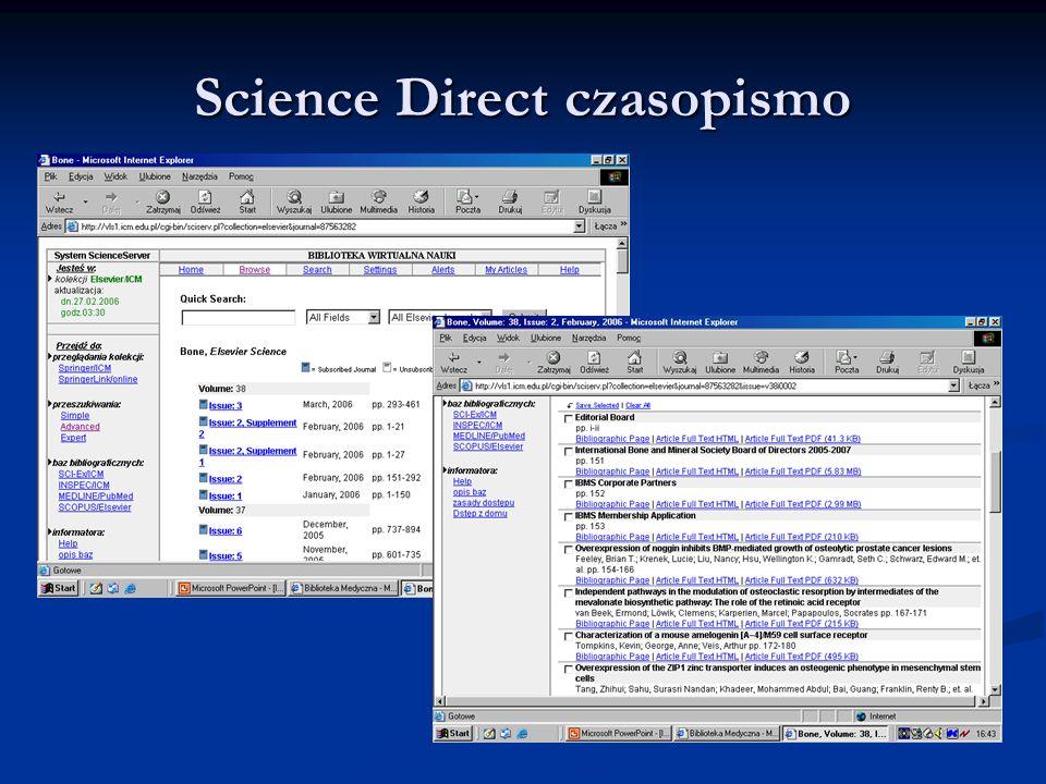 Science Direct czasopismo
