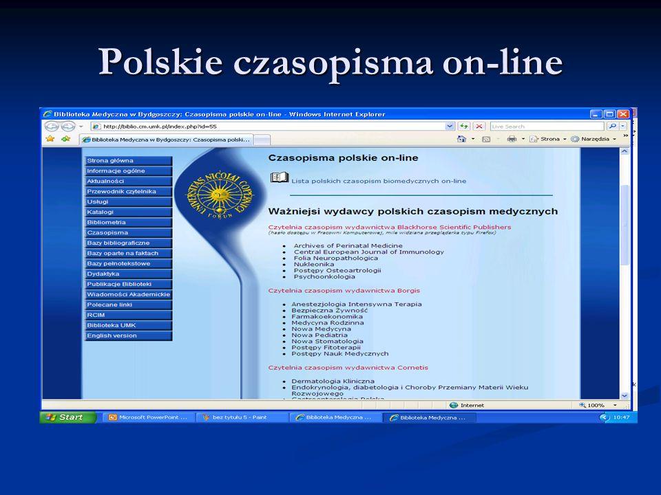 Polskie czasopisma on-line
