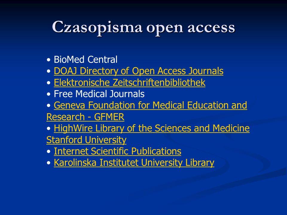 Czasopisma open access