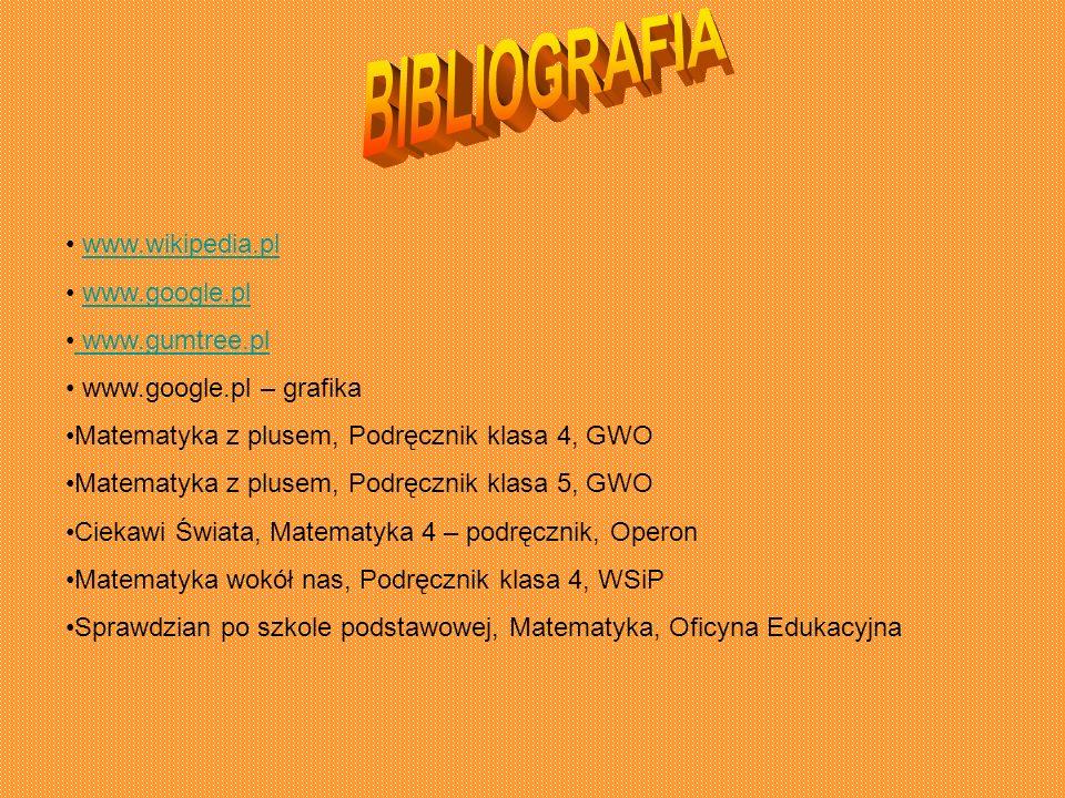 BIBLIOGRAFIA www.wikipedia.pl www.google.pl www.gumtree.pl