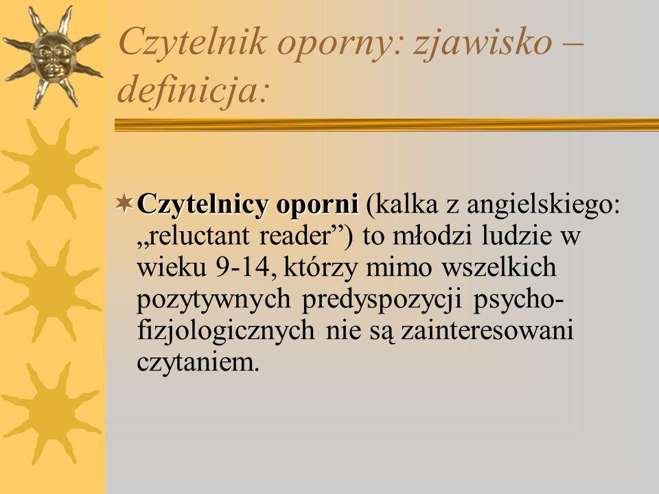 Czytelnik oporny: zjawisko – definicja: