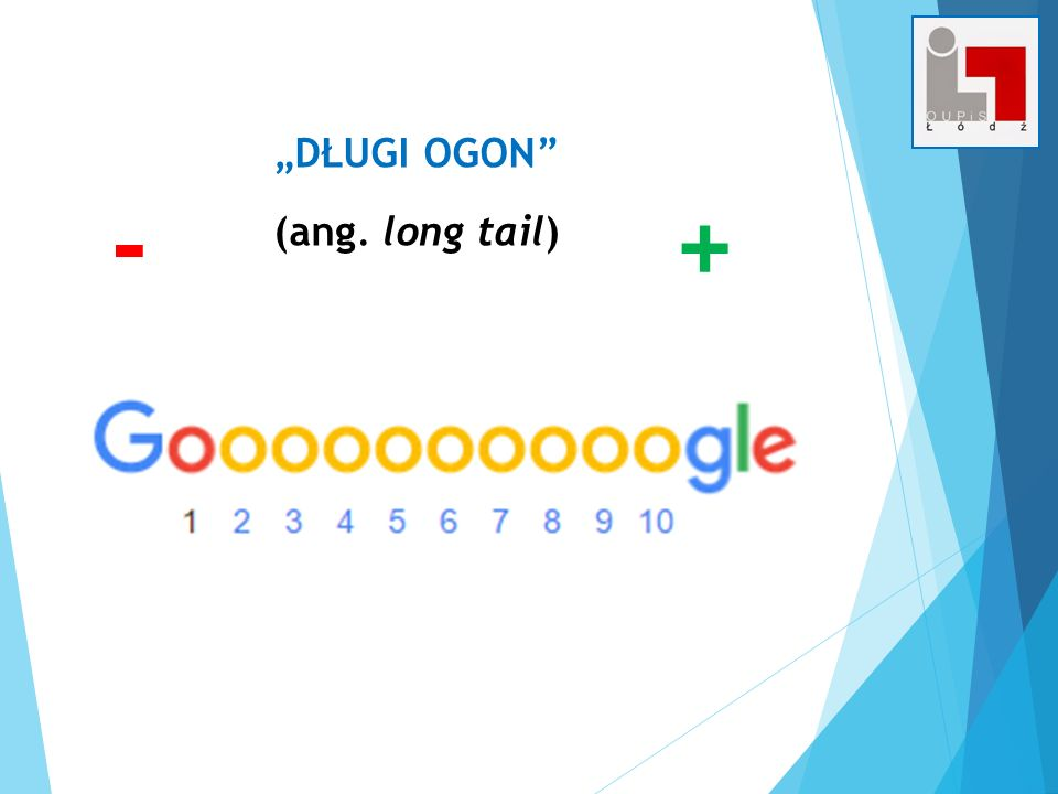 """DŁUGI OGON (ang. long tail) - +"
