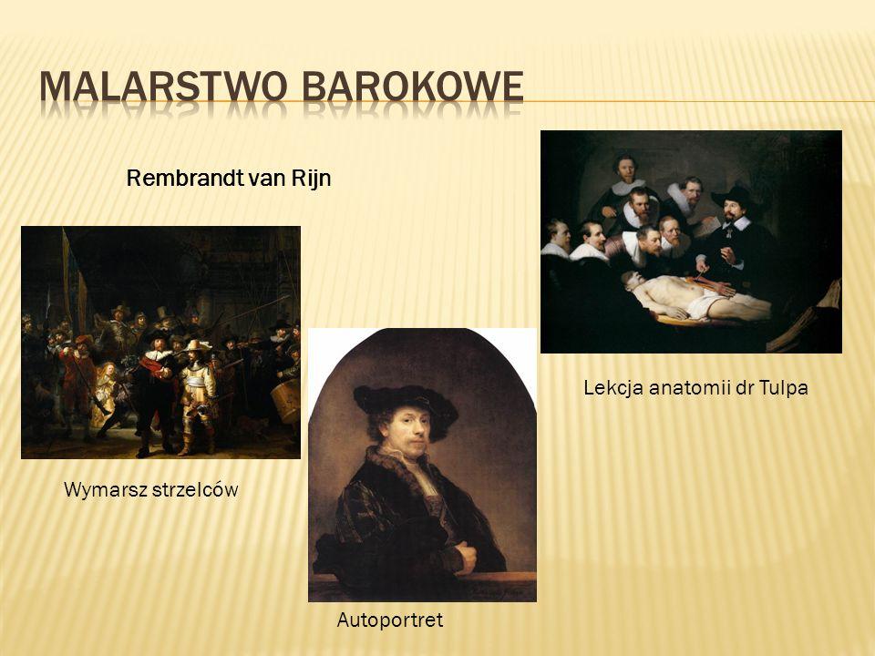 Malarstwo BAROKOWE Rembrandt van Rijn Lekcja anatomii dr Tulpa