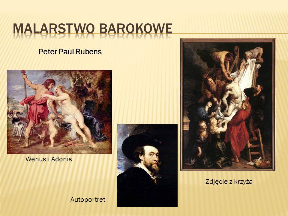 Malarstwo BAROKOWE Peter Paul Rubens Wenus i Adonis Zdjęcie z krzyża