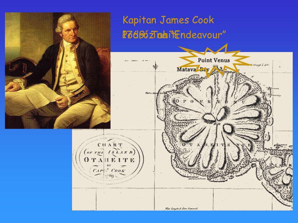 Kapitan James Cook Podróż na Endeavour 1769: Tahiti