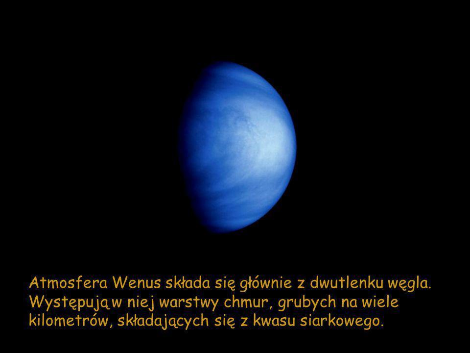 Atmosfera Wenus składa się głównie z dwutlenku węgla