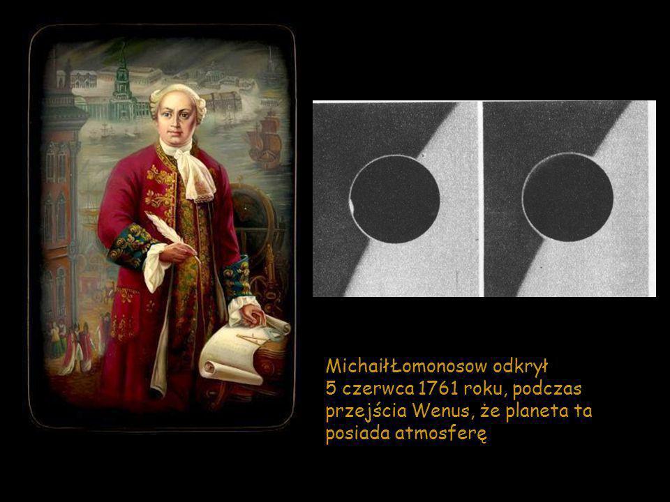 Michaił Łomonosow odkrył