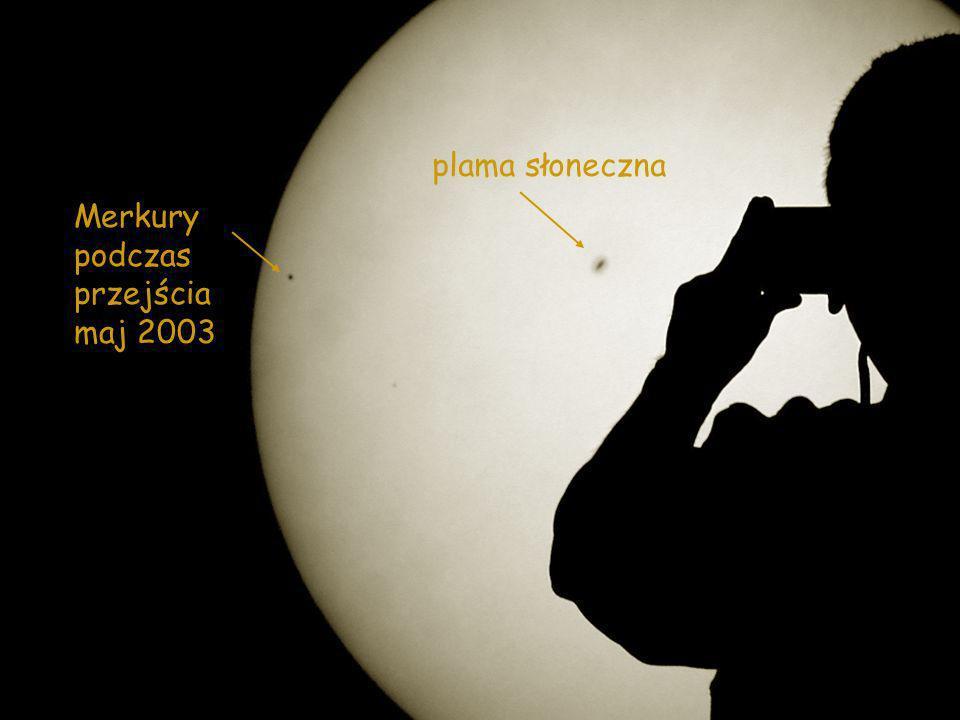 plama słoneczna Merkury podczas przejścia maj 2003