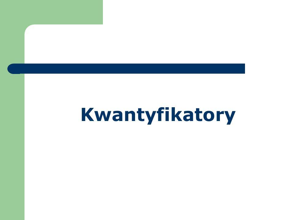 Kwantyfikatory