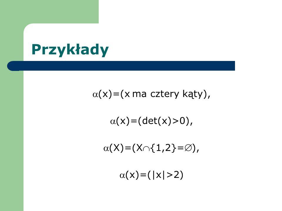 (x)=(x ma cztery kąty),