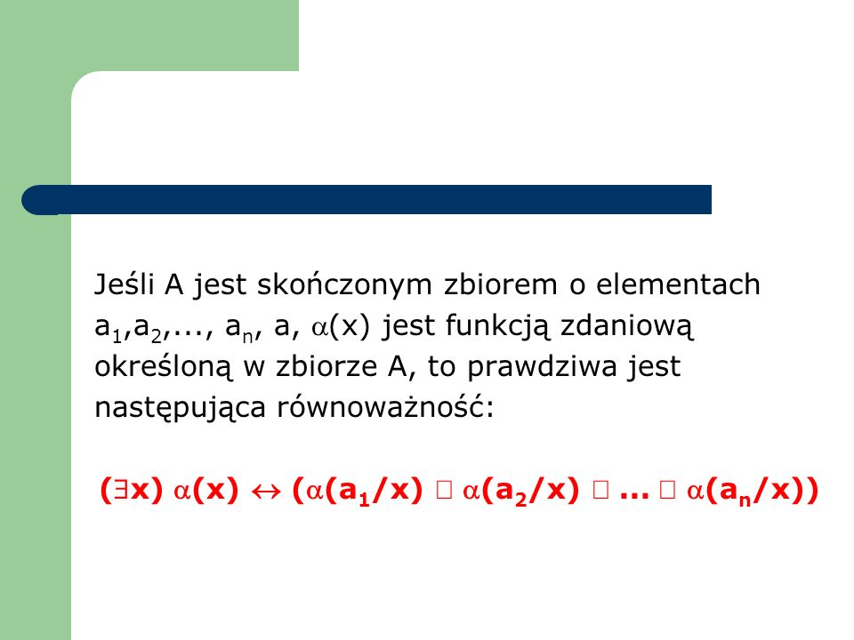($x) a(x) « (a(a1/x) Ú a(a2/x) Ú ... Ú a(an/x))