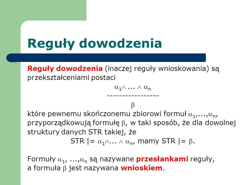STR |= a1Ù... Ù an, mamy STR |= b.