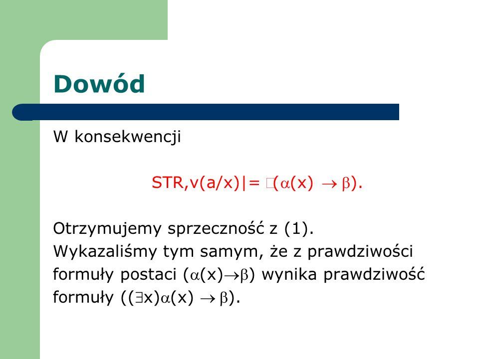 STR,v(a/x)|= Ø(a(x) ® b).