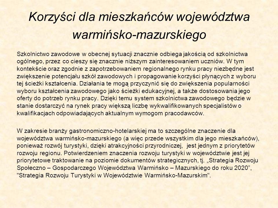 Korzyści dla mieszkańców województwa warmińsko-mazurskiego