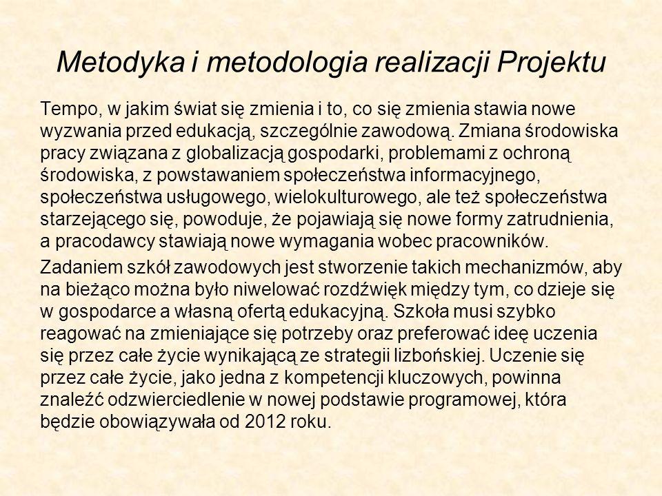 Metodyka i metodologia realizacji Projektu